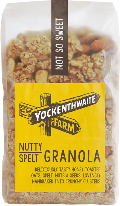 A 475g bag of low sugar nutty granola